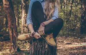 woman, blonde, sit